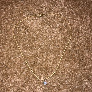 Urban Outfitters string choker with rhinestone